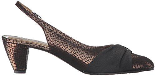 Dezarae Bronze Vestido Soft Black para Estilo de Bomba Snake Mujer Grosgrain Style Suave de FIqw1xUv