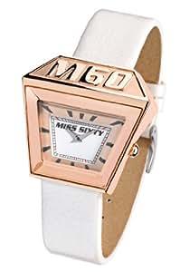 Miss Sixty SNP003 - Reloj de mujer de cuarzo, correa de piel color blanco