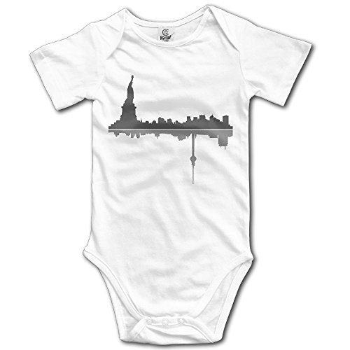 Unisex Baby's Climbing Clothes Set New York City Bodysuits Romper Short Sleeved Light Onesies for 0-24 Months -