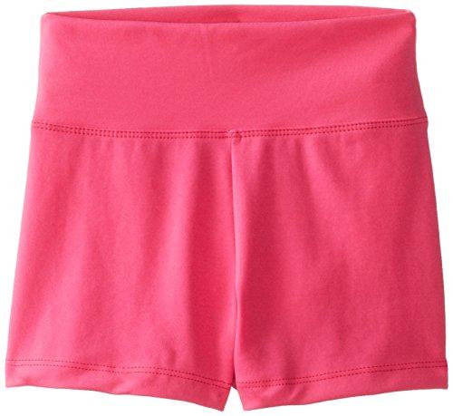 Hot Pink Spandex Shorts - Capezio Big Girls' Team Basic High Waisted Short, Hot Pink, Medium