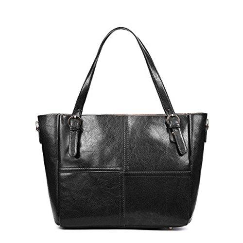 Hand Handbag New Bag Backpack Tote Bag Fashion Black Meaeo Fashion Big Red 5qxf0nwT