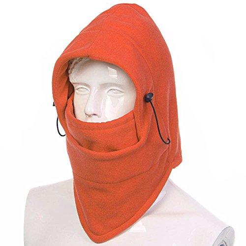 ezyoutdoor cubeta gorro Nueva Invierno tela Polar Térmico SWAT Ski Máscara cortavientos para deportes al aire última intervensión Senderismo camping viajes mochila de equitación Walking Supervivencia (Naranja)