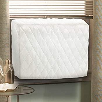 Air Jade White Quilted Indoor Cover for Window Air Conditioner (Large- 28'' x20'' x 4'')