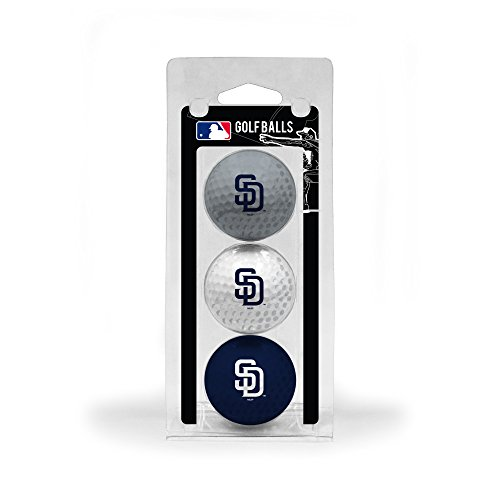 (Team Golf MLB San Diego Padres Regulation Size Golf Balls, 3 Pack, Full Color Durable Team Imprint)