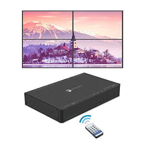 Video Wall Controller - gofanco Prophecy 4K HDMI 2x2 Video Wall Controller & Processor - Up to 4K/60Hz YUV 4:4:4, 1x HDMI or Mini DisplayPort 1.2 Input, Bezel Correction (Supports 1x1, 2x2, 1x3, 3x1, 1x4, 4x1)