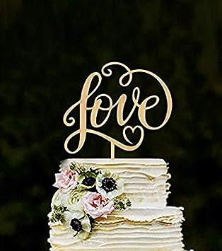 Losuya Love Decoración para tarta de boda con letras de amor de madera para decoración de tartas, bodas, compromisos, regalos: Amazon.es: Hogar