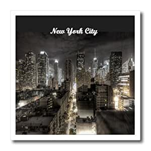 ht_174201_3 Florene - New York - Image of new york city at night - Iron on Heat Transfers - 10x10 Iron on Heat Transfer for White Material