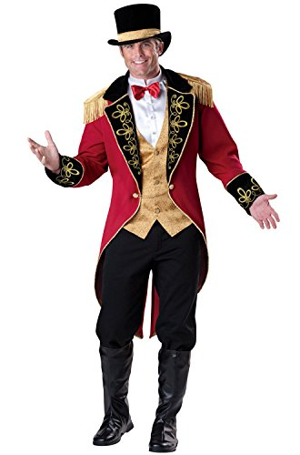 Adult Ringmaster Costume (InCharacter Costumes Men's Ringmaster Costume, Red Gold/Black,)