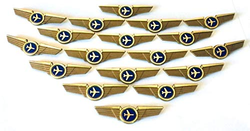 Aviator Kids Airplane Pilot Wings Plastic Pins Pinbacks Badges Lot of 20 Pins