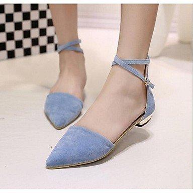 rtry PU de Cuero Sintético de las mujeres sandalias verano al aire libre soporte de talón negro azul de almendro US7.5 / EU38 / UK5.5 / CN38