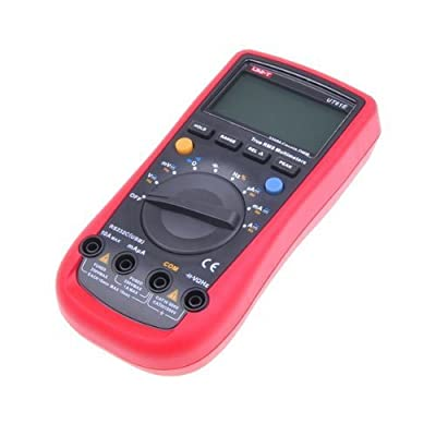 Multimeter - UNI-T UT61E AC/DC True RMS Digital Auto Ranging Multimeter With Capacitance Frequency Measurement With RS232 Computer Connection, black+red