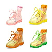 FidgetFidget Children flat clear festival jelly wellies low ankle rainboots Water shoes