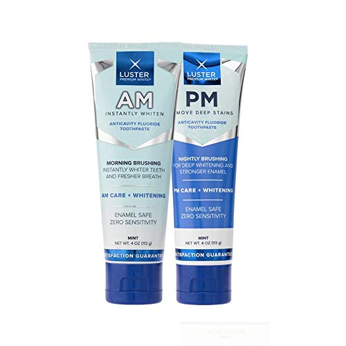Luster Premium White | AM & PM Anticavity Fluoride Toothpast