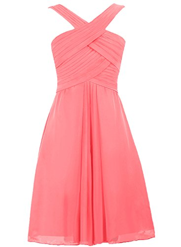 d68fc1c77cc Fashion Dress   Comfortable Dress and Shoes for Women Cdress Straps Chiffon  Short Prom Dresses Wedding Guest Bridesmaid Party Gowns Coral