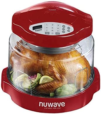 NuWave Oven Red Pro Plus with Clear Dome