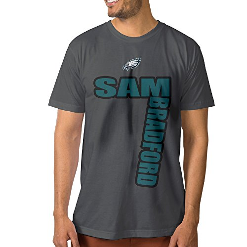 Men's Sam Eagles Bradford #7 Short Sleeve New Style Tshirt DeepHeather XXL
