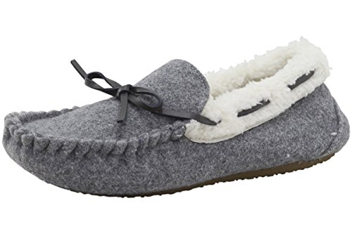 Stride Rite Baby Moccasin Slipper, Cozy Wool - Gray 7-8 Toddler