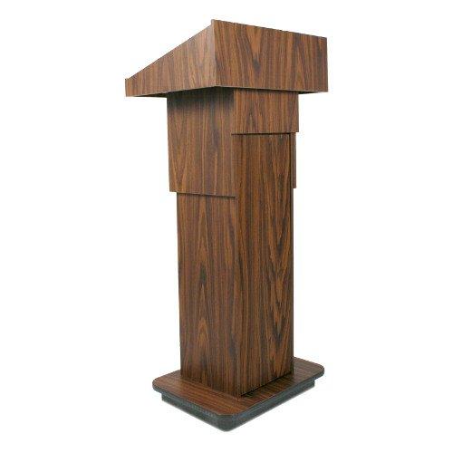 AmpliVox W505A - Executive Adjustable Column Non-sound Lectern - Sculpted Base - 22