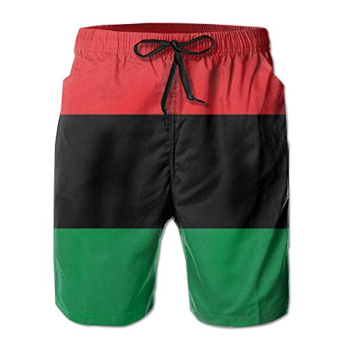 f7eff62e83 African American Flag Mens Board Shorts Beach Swim Shorts Casual Classic Fit  Trunks