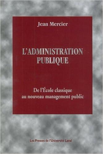 Ladministration publique de l/école classique