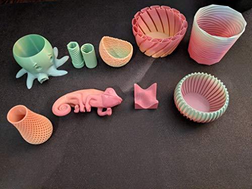 FilaCube 2.85mm 1 Kilogram Rainbow Gradient Multiple Color PLA 2 (PLA 2nd Generation) 3D Printer Filaments Transition Colour Multicolor Progressive [Made in USA] 1kg 1kilogram/roll 3mm 2.85 mm 3.0