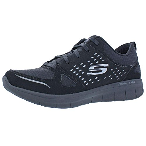 Skechers Womens Synergy 2.0 Rising Star Fashion Sneakers Black 10 Medium ()