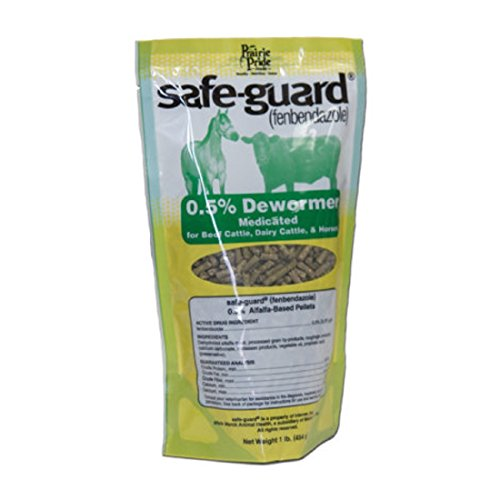 SG Prairie Pride Medicated De-wormer and Feed Pellets for Horses and Cattles - Contains Fenbendazole to Stop Strongyles, Small Strongyles, Pinworms and Ascarids - 1.3 and 5 LB (5 (Strongyle Wormer)
