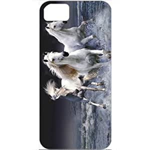 DIY Apple iPhone 5S Case Customized Gifts Personalized With Animals mystic horses Animals Birds White