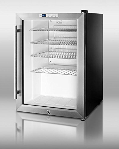 SCR312LPUB 17'''' Beverage Center with Factory Installed Lock Automatic Defrost Countertop Dimensions Recessed LED Lighting Adjustable Chrome Shelves & 100% CFC Free by Summit