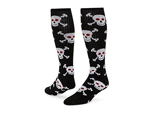 Rode Leeuwenschedels Skull Patterned Acryl Atletische Sokken Zwart / Wit