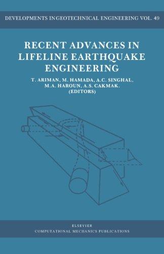 Recent Advances in Lifeline Earthquake Engineering PDF