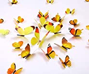 Kakuu 36PCS Butterfly Wall Decals - 3D Butterflies Wall Stickers Removable Mural Decor Wall Stickers Decals Wa