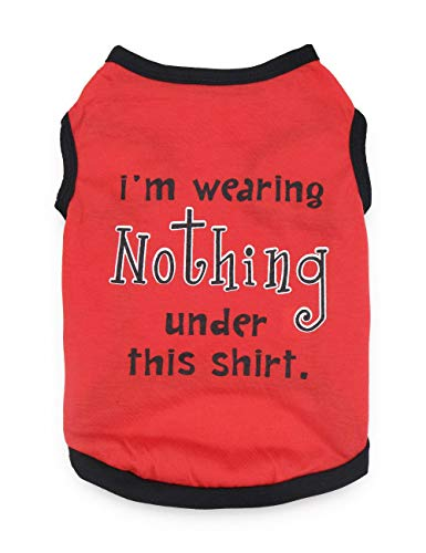 DroolingDog Pet Dog Clothes XS T-Shirt Pet Vest XSmall Dog Shirt for Small Dogs, XS, Red