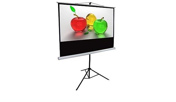 304.8cm trípode proyección pantalla de proyector 16:9 Grano De ...