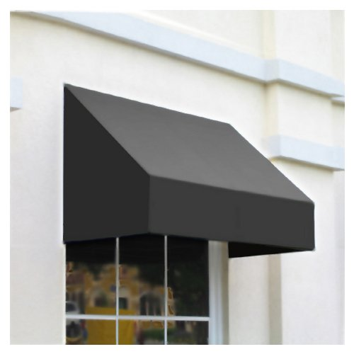 Awntech 3-Feet New Yorker Window/Entry Awning, 31-Inch Height by 24-Inch Diameter, Gray