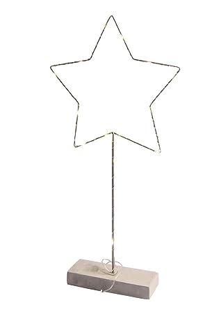 Hotex Weihnachtsdeko LED Stern mit Kupferdraht umwickelt, 15 LED ...