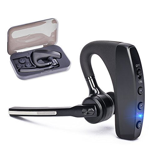 Bluetooth Headset V4.2, Hands-free Business Earpieces for Cell Phones, SHINETAO 2 HD Microphones Wireless Bluetooth Earpiece for Office/Driving, Compatible with iPhone/Samsung/Android by SHINETAO