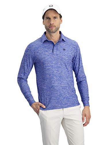 Jolt Gear Long Sleeve Polo Cool Blue, M (Shirt Mens Athletic)