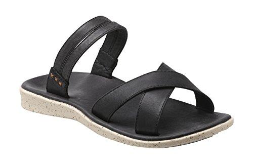 Superfeet Laurel Women's Casual Sandal, Black, Full Grain Leather, Women's 9.5 US -