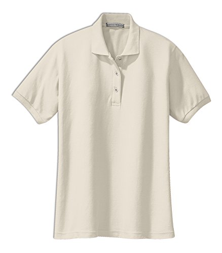 Port Authority Ladies Silk Touch™ Polo. L500 (Light Stone) (5X-Large)