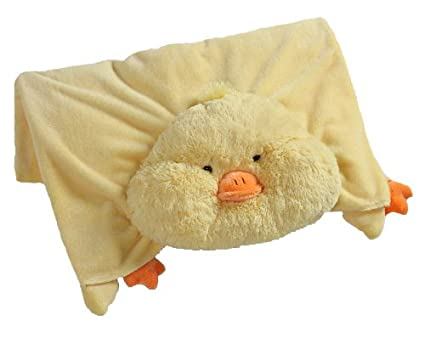 Amazoncom The Original My Pillow Pets Duck Blanket Yellow Toys