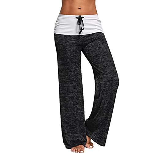 HIHIvia Damen Yogahosen Lang Haremshose Elastisch Sporthose Locker Sommerhose Freizeithose Hosen