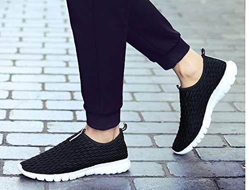 Overshoes Assorbimento Black Resistente Casual Degli Da Urti Fondo Leggero Dritto Aciss Sneaker Uomo Morbido All'usura Antiscivolo Sw0qqp