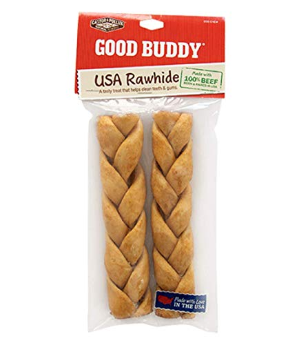 "Castor & Pollux 7"" Usa Rawhide Braided, 2 Count, (Pack of 1)"