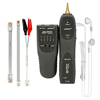 Telephone Line Test Wire Tracker RJ11 RJ45 Cable Tester Line Finder Polarity Testing Continuity Checking NOYAFA Handheld Cable Finder Tone Generator for Ethernet LAN Network Cable Collation