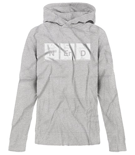 Price comparison product image BSW Youth Girls Nerd Periodic Table Of Elements Science Hoodie LRG Sport Grey