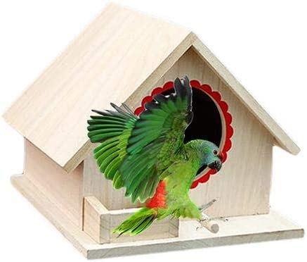 Zexa Casitas para Pájaros, Caja Nido, Casa De Aves Casa De Madera para Pájaros, Casa Nido, Regalo Ideal para Los Amantes De Las Aves, Cumpleaños: Amazon.es: Hogar