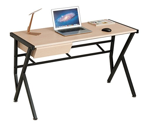 ProHT Small Computer Writing Desk with a Pullout Drawer, Durable Compact Computer Table Laptop Desk for Small Place, CARB Certified. White Oak 05016A