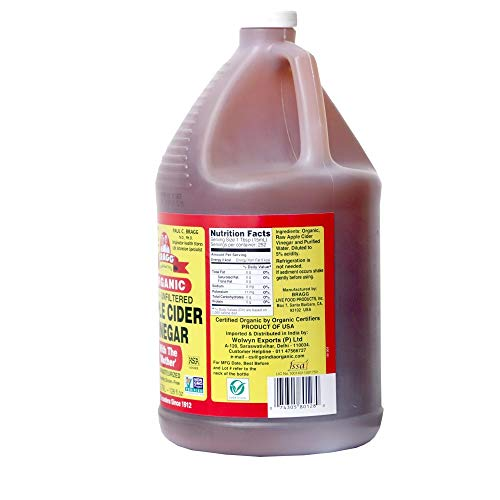 Organic Raw Apple Cider Vinegar Unfiltered Bragg 1 Gal (128oz) Liquid by Bragg (Image #2)