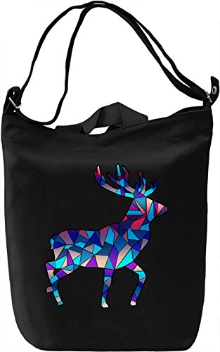 Geometric Deer Borsa Giornaliera Canvas Canvas Day Bag| 100% Premium Cotton Canvas| DTG Printing|